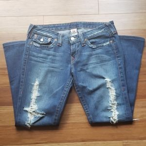 True Religion Distressed Joey Flare Style 04-503